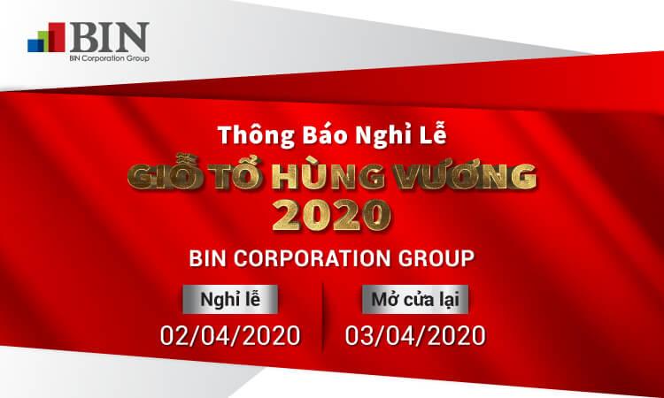 Thông báo nghỉ giỗ tổ Hùng Vương của BINCG 2020