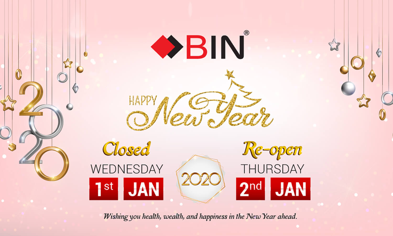 New Year Closure Notice 2020